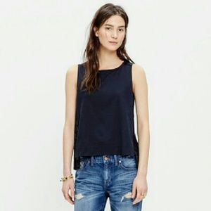 Madewell Embroidered Tank Top xs